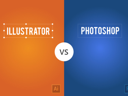 Illustrator vs. Photoshop, a Visual Comparison